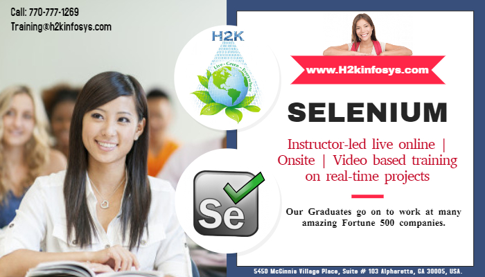 Selenium Online Training with Live Projects