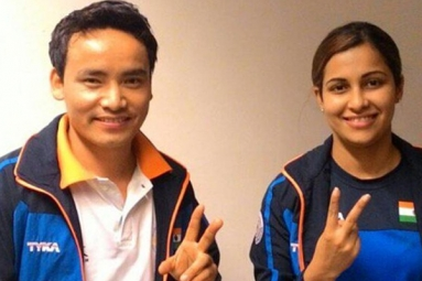 Jitu Rai, Heena Sindhu wins ISSF World Cup the Mixed team Event