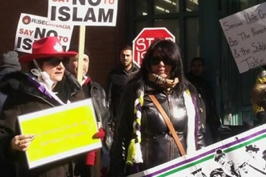 Protesters Call For Ban On Islam